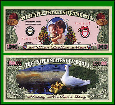 50 Factory Fresh Novelty Mother's Day Million Dollar Bills - New