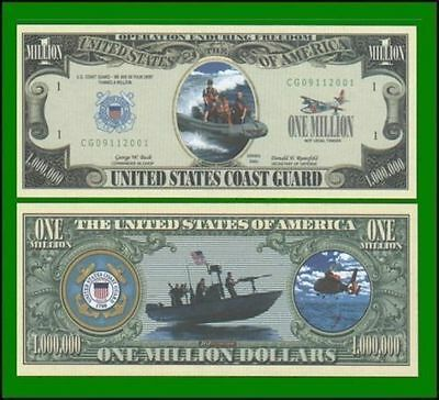 25 Factory Fresh Novelty Coast Guard Million Dollar Bill