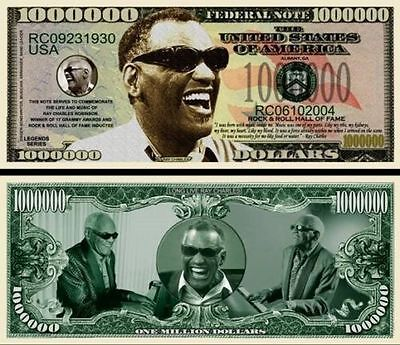 25 Factory Fresh Novelty Ray Charles Million Dollar Bills