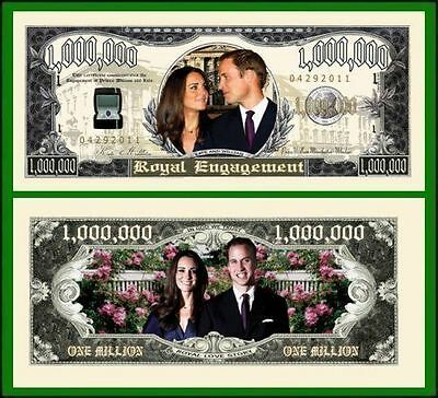 25 Factory Fresh Novelty Royal Engagement Million Dollar Bills