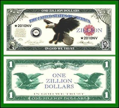 25 Factory Fresh Novelty Zillion Dollar Bills