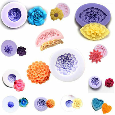 3D Cake 14 Styles Flower Silicone Mold Chocolate Mould Craft Resin Clay Fondant