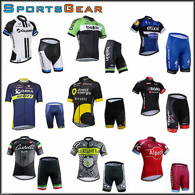 2016 Sport Team Cycling Bike Clothing Jersey Shirts Padded Short Pant Kits