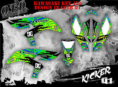 Scrub Dekor Kit Atv Kawasaki Kfx 450 Graphic Kit Kicker B