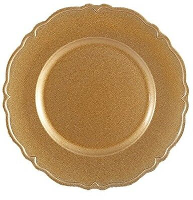 Set of 6 Gold Wave Charger Plates Under Plates