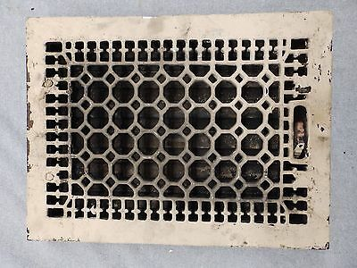Antique Cast Iron Heat Grate Register Vent Old Honeycomb Vtg Hardware 5073-15