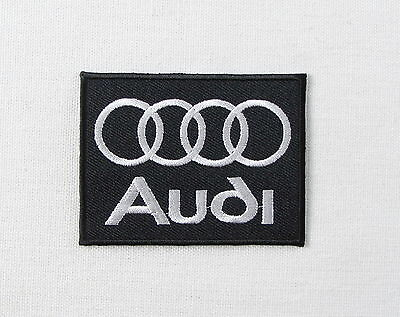 AUDI Motorsport BLACK Iron or sew on embroidered patch A1 A2 A3 A4 A5 A6