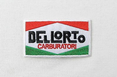 Dellorto Carb Iron or sew on embroidered patch motorsport carburettor