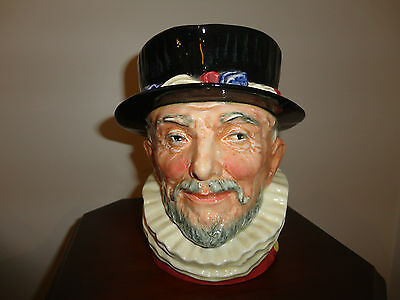 Royal Doulton Beefeater Toby Jug - with Yellow Cypher RARE