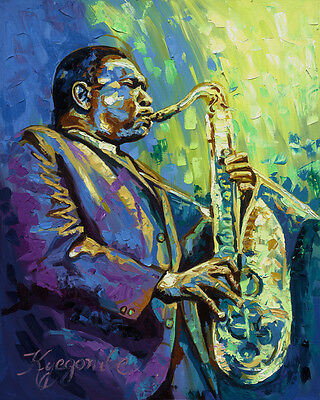 Coltrane Jazz Music Oil painting Art  Painting Framed Canvas