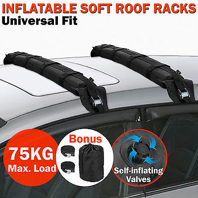 2pcs Universal Inflatable Car Roof Bars Soft Racks Kayak Luggage Carrier Straps