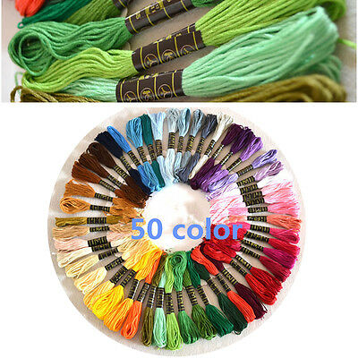 Cross Stitch Cotton Sewing Skeins Embroidery Thread Floss 8m 50pcs/set