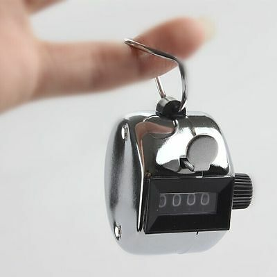 High Quality Hand held Tally Counter 4 Digit Number Clicker Golf KE/UK HOT