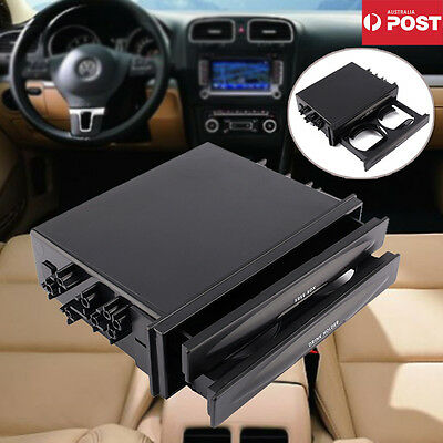Double Din Radio Pocket Drink-Cup Holder + Storage Box for Universal Car truck
