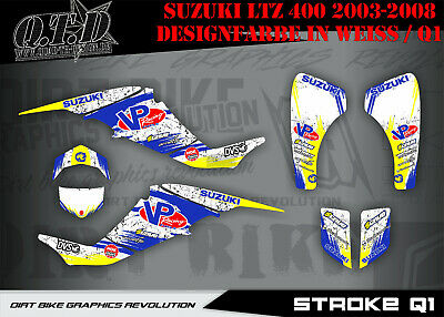 Scrub Dekor Kit Atv Suzuki Ltz 400 2004-2008 Suzuki Graphic Kit Stroke B