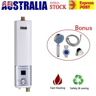 Portable Instant Electric Water Heater Camping Caravan Shower Hot Water System