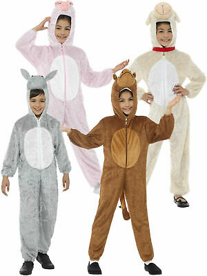 Kids Animal Costume Christmas Camel Sheep Donkey Nativity Fancy Dress Girls Boys