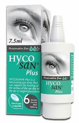 Hycosan Plus+ Preservative-Free Lubricating Eye Drops 7.5ml