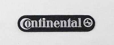 Continental tyres black Iron or sew on embroidered patch motorsport carburettor