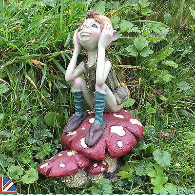 Garden Pixie Fairy Ornament Sculpture Goblin Fairy Outdoor 39101