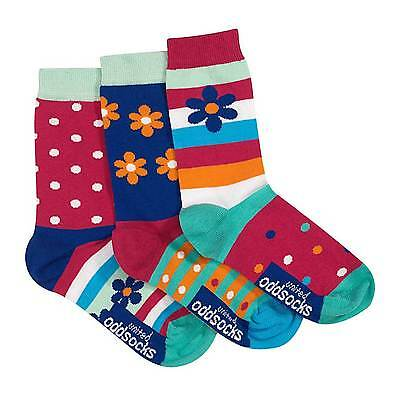 Daisy Oddsocks - Set of 3 Girls Socks by United Oddsocks (UK 12-5.5)