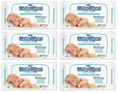 Water Wipes - 60 Wipes (Pack of 6)