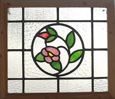 Antique Stained Glass Window Four color Trailing Blooms                   (2623)
