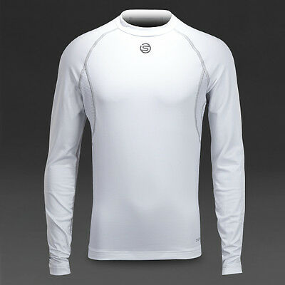 Boys Skins White Carbonyte Thermal Rugby Training Crew Neck Top