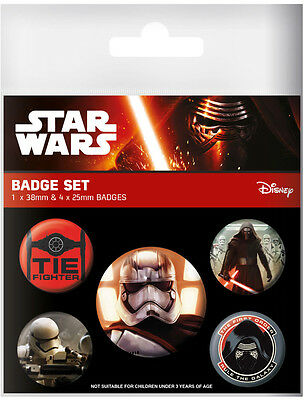 STAR WARS - Episode VII - The First Order - Button Set - Badge Pack - Neu OVP