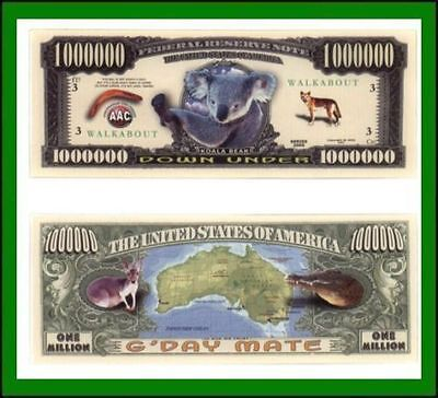 15 Factory Fresh Novelty Down Under Aussie Million Dollar Bills