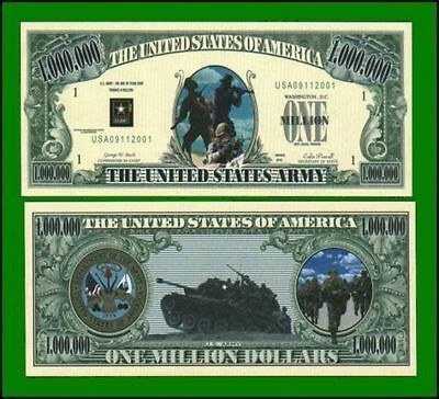 15 Factory Fresh Novelty US Army Million Dollar Bills