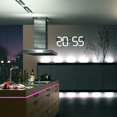 Large Modern Design Digital Led Wall Clock Watches 24 or 12-Hour Display On Sale