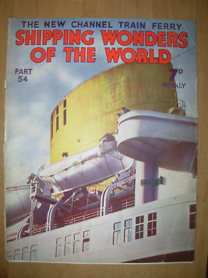 Shipping Wonders Of The World Magazine 1937 #54 The New Channel Train Ferry