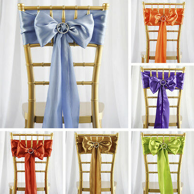 250 WHOLESALE Lot Satin CHAIR SASHES Ties Bows Wedding Party Decorations SALE