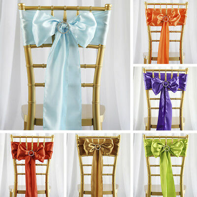 500 x WHOLESALE Lot Satin CHAIR SASHES Ties Bows Wedding Party Decorations SALE