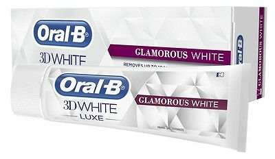 Oral-B 3D White Luxe GLAMOROUS WHITE Enamel Safe Stains Off Whitening Toothpaste