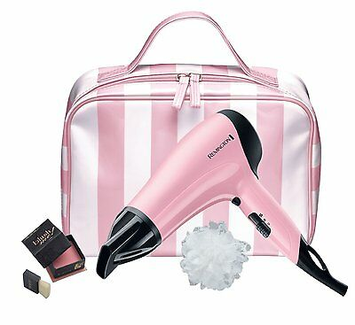 REMINGTON D3110 Ceramic Ionic HAIR DRYER 2000W Concentrator Girly Pink GIFT SET