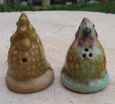 Australian Pottery Darbyshire Chicken Salt & Pepper Shakers
