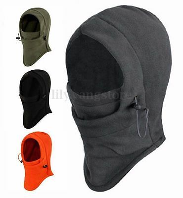 Fleece Winter Balaclava Swat Ski Motorcycle Neck Face Mask Hood Hat Helmet Cap