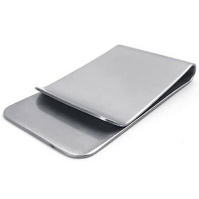 Stainless Steel Light Weight Slim Pocket Cash Money Clip Holder