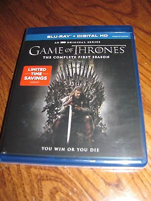 Game of Thrones: The Complete First Season (Blu-ray Disc, 2015, 5-Disc Set) New
