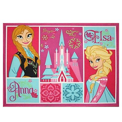 Disneys Frozen Elsa and Anna Patchwork Kids Area Rug - 39.5x50in. Brand New