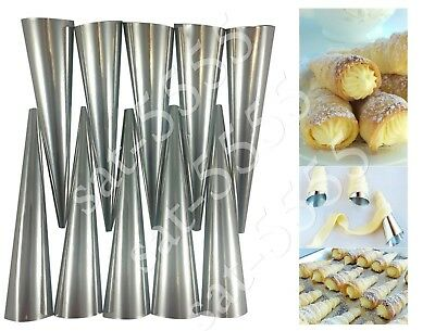 CREAM ROLL HORN MOLDS Set of 10 FORMS DESSERT PASTRY TUBE ТРУБОЧКИ