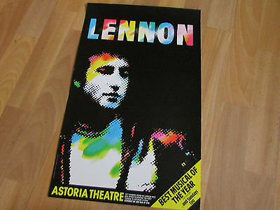 LENNON Best Musical of the Year BEATLES Interest ASTORIA Theatre Poster