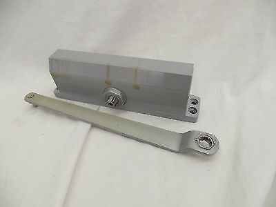 Global Door Controls Commercial Door Closer in Aluminum with Backcheck - Size 4