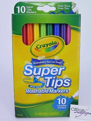 Crayola Super Tip Markers Washable 10Pk 58 5010