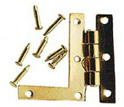 HL Hinges with Tac's 4 Pack with Screws, Doll House Miniature