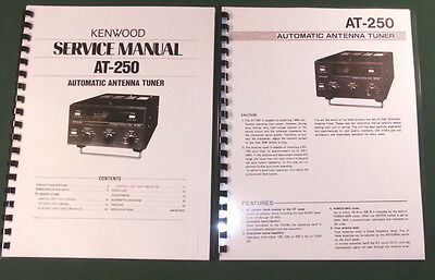 Kenwood AT-250 Service & Instruction Manuals - Card Stock Covers & 28lb Paper