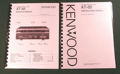 Kenwood AT-50 Service & Instruction Manuals - Card Stock Covers & 28lb Paper