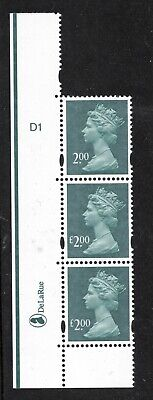 Y1747a. £2 Machin cylinder block x 6 missing £ error. Very scarce. Superb MNH.